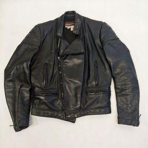 Vintage Brooks Leather Motorcycle Jacket 38